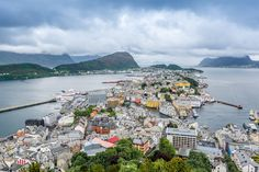 Alesund viewed from Aksla Mountain, Norway