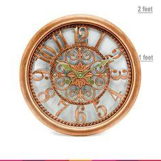 Antique Metal Wall Clock 1