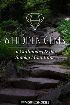 6 Hidden Gems in Gatlinburg TN and the Smoky Mountains Gatlinburg Tennessee Cabins, Gatlinburg Vacation, Tennessee Vacation, Vacation Trips, Gatlinburg Trails, Asheville Hiking, Smoky Mountain National Park, Smokey Mountain, Alaska Travel