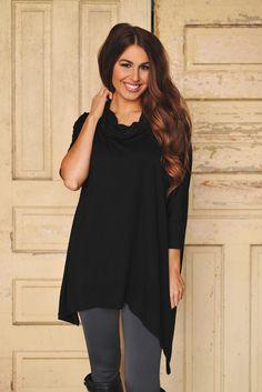 Dottie Couture Boutique - Cowl Tunic- Black, $42.00 (http://www.dottiecouture.com/cowl-tunic-black/)