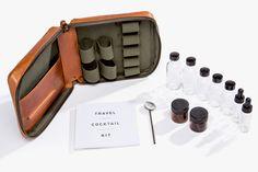 """Stephen Kenn """"Travel Cocktail Kit"""". http://www.selectism.com/2014/11/24/stephen-kenn-travel-cocktail-kit/"""