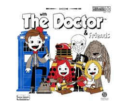 Calling all Doctor Who fans -- today's shirt at TeeFury is absolutely ADORABLE. The Doctor & Friends by joebot is available today on. Dr Who Shirt, Doctor Who Shirts, T Shirt, Tv Doctors, Doctor Who Tardis, Nerd Herd, Funny Tee Shirts, Grab Bags, Nerdy