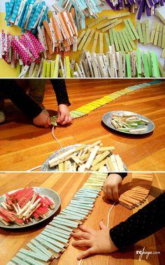 cómo hacer una cadena anual montessori