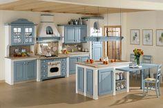 Decorazioni bucoliche sulla cucina   cucine in muratura che vorrei ...