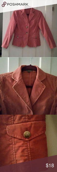 Pink corduroy jacket Cute pink Ann Taylor corduroy jacket, size 4P Ann Taylor Jackets & Coats Blazers