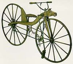 "pics of the first bicycle | 1866: First ""modern day"" bicycle (Pierre and Ernest Michaux). Called ..."