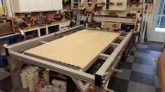 CNC router built with 40 and 15 series profiles