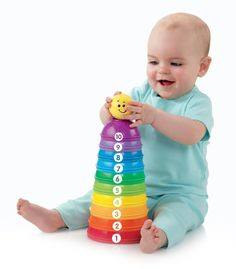 Amazon Prime Now: Fisher-Price Brilliant Basics Stack & Roll Cups: Toys & Games