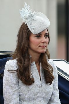 The Duchess of Cambridge at the Trooping the Colour today June 14, 2014.