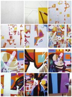 MAKING OFF | FRANCESCA MONFRINATTI | LOBO | POP ART www.lobopopart.com.br