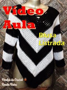 Popular Crochet Little Black Dress Tutorial - Craft & Patterns Crochet Sweater Design, Crochet Jacket, Crochet Blouse, Crochet Designs, Freeform Crochet, Irish Crochet, Crochet Shawl, Free Crochet, Ponchos
