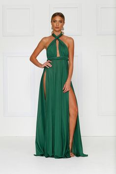 d0651ea53f Shop our gorgeous Catalina Multi Way Maxi Dress in Emerald online now.  Featuring a plunge neckline