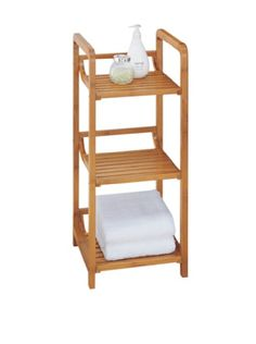 Organize It All Lohas 3 Tier Tower ** You Can Find Out More Details At.  Bamboo FloorBathroom StorageBathroom IdeasBathroom ShelvesBathroom ...