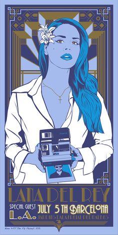 Lana del Rey Poster Barcelona