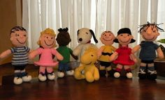 SPECIAL OFFER - 8 amigurumi crochet pattern from Peanuts -   Charlie Brown, (9.6 inches)  Snoopy, (10 inches)  Woodstock, (8.4 inches)  Franklin, (10.4 inches)  Lucy van Pelt, (10.4 inches)  Sally Brown, (10.4 inches)  Linus, (10.6 inches)  Pigpen. (11 inches)