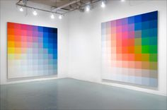 Robert Swain, Untitled (1979); 920, 9'x9' (left); 914, 9'x9' (right); Acrylic on Canvas