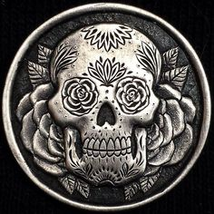 MATHEW HAGERMANN HOBO NICKEL - SUGAR SKULL - NO DATE BUFFALO NICKEL
