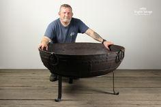 Large Kadai Fire Bowl / Brazier on Tripod