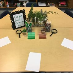 """- Mrs. M Dattilo (@wonderful_wonderings) on Instagram: """"Can you draw a Christmas tree provocation using real evergreens and magnifying glasses. Be sure to…"""""""
