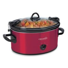 We love to spend time in the kitchen.... Our current crock pot just isn't large enough... chicken tortilla soup, chili, or shredded pork are amazing meals we love!  Crock-Pot® 6-Quart Cook & Carry Slow Cooker - BedBathandBeyond.com