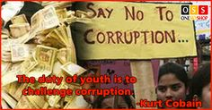 The duty of youth is to challenge corruption - Kurt Cobain. Shop now