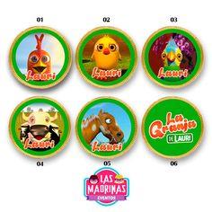 """Moneditas de Chocolate Personalizadas de La granja de Zenón.  Incluye: Moneditas de Chocolate """"Felfort"""" Stickers redondos personalizados Full Color. Con hasta 2 variantes en el diseño, para que tus stickers no sean todos iguales. Para anexar más variantes aún, consultar costo adicional.  ARMÁ UN CANDY BAR A TU MEDIDA, ELIGIENDO CADA UNA DE... Read more » Farm Animal Cakes, Farm Animals, 2nd Birthday Parties, Candy, Crafts, Ely, Valentino, Frozen, Stickers"""