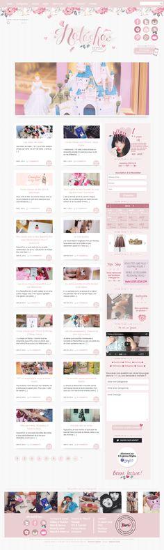Natacha Birds #webdesign #girly #pink #blog
