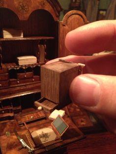 Secret drawer in Queen Anne desk