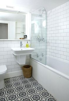 Image result for bathroom with cement floor tile