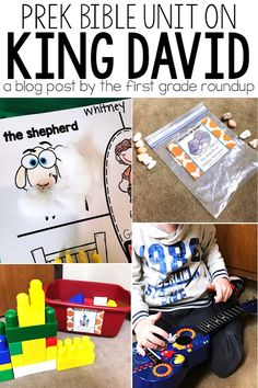 King David was a man in the Bible who took on many roles: shepherd, warrior, musician, and king. Read about how we use our graphic organizer and hands on activities to learn about King David in our preschool sunday school class! Toddler Bible Crafts, Bible School Crafts, Preschool Bible, Bible Activities, Preschool Lessons, Preschool Activities, Toddler Sunday School, Sunday School Activities, Sunday School Lessons