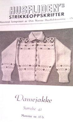 Husfliden 45b Embroidery Patterns, Knitting Patterns, Norwegian Knitting, Tapestry Weaving, Vintage Knitting, Color Combinations, Knitwear, Knit Crochet, Men Sweater