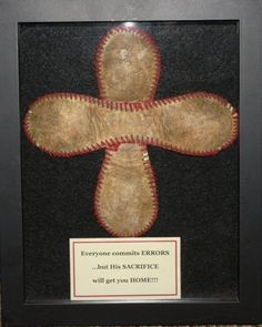 boys baseball room | LOVE THIS for boys room!! Baseball Cross: Everyone commits ERRORS, but ...
