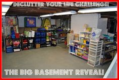 Inspiration for de-cluttering and cleaning out the basement