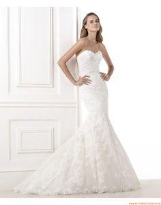 2015 Aktuelle Schicke Moderne Brautkleider aus Softnetz mit Organza mit Applikation