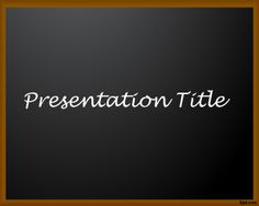 Educational PowerPoint template with a blackboard ready for e-learning presentations