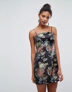 Shop New Look Jacquard Mini Slip Dress at ASOS.