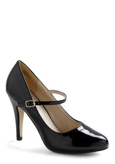 Patent Office Heel in Ink, #ModCloth