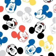 The JOANN online fabric shop has a large selection of cotton flannel fabric by the yard in variety of styles, colors & patterns, for sewing or quilting. Mickey Mouse Fabric, Mickey Mouse Wallpaper, Mickey Minnie Mouse, Disney Wallpaper, Flower Wallpaper, Disney Boys, Cute Disney, Felt Material, Mickey Head