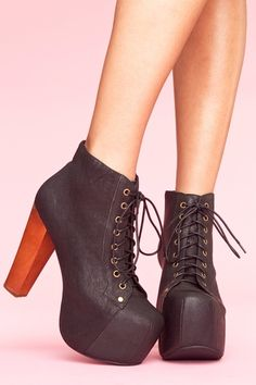 somebody please give me some money or buy me these <333 Lita Platform Boot - Black  $162.00