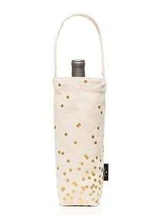 Kate Spade - Wine Tote - Gold Dot