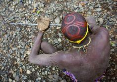 Africa | Bondi man.  Omo Valley, Ethiopia | ©Eric Lafforgue