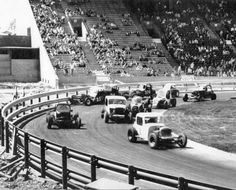 Vintage stock car racing at the CNE - I grew up around this kind of racing. My dad and uncles built and drove. A lot of great memories. Dirt Track Racing, Nascar Racing, Auto Racing, Old Race Cars, Vintage Race Car, Car And Driver, Retro Cars, Rat Rods, Back In The Day