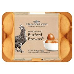 Burford Brown eggs - dark shelled, dark yolked and superb tasting!