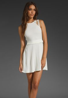 Something Else by Natalie Wood, Multi Strap Dress in Ivory - outfit1