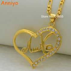 >> Click to Buy << Anniyo Can Not Customize / Arabic Name Necklace Islam Jewelry Chain gold color middle eastern pendant muslim items #Affiliate