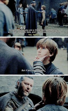 """""""If you have to fight... win"""" - Lord Rickard and Young Ned #GameOfThrones"""