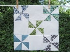 Quick Half Square Triangle Trick. By:Amy Gibson from Stitchery Dickory Dock. Learn how to make four half square triangles quilt patterns in ninety seconds flat with this tutorial on a Quick Half Square Triangle Trick. You'll be amazed at the perfectly edged triangle shapes you can create. (a sneaky little HST trick I learned from Jenny Doan over at Missouri Star Quilt Co) Read more at http://www.favequilts.com/Rotary-Cutting/Quick-Half-Square-Triangle-Trick#J7KiBfvwRif3Tl1t.99HST Trick 01