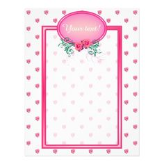 http://www.zazzle.com/pink_frame_monogram_rose_flyer_design-244076954139843147?rf=238523064604734277 Pink Frame Monogram Rose Flyer Design - These flyers have lots of pink roses all over. It has a pink monogram frame with roses and green foliage in which to place your name or company or business name and initial. This would add a special touch while promoting your business!
