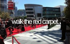 Stuff To Do, Things To Do, Girly Things, Girl Stuff, Random Stuff, Red Carpet, Walking, Bucket List Tumblr, Wish