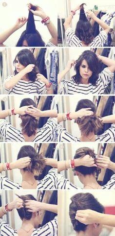 Otro peinado para las de cabello corto